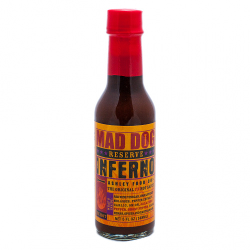 Mad Dog Inferno Ghost Pepper Edition Reserve Hot Sauce 150,000 SHU